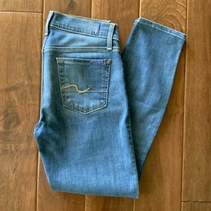 7 FOR ALL MANKIND Stretchy Skinny Ankle Jeans 26